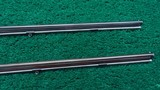 CASED PAIR OF J. MANTON SMALL PERCUSSION RIFLES - 10 of 23