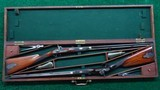 CASED PAIR OF J. MANTON SMALL PERCUSSION RIFLES - 22 of 23