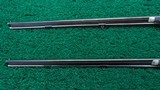 CASED PAIR OF J. MANTON SMALL PERCUSSION RIFLES - 14 of 23