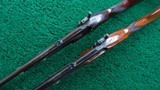 CASED PAIR OF J. MANTON SMALL PERCUSSION RIFLES - 6 of 23