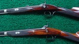 CASED PAIR OF J. MANTON SMALL PERCUSSION RIFLES - 4 of 23