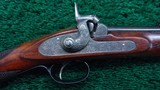 CASED PAIR OF J. MANTON SMALL PERCUSSION RIFLES - 2 of 23