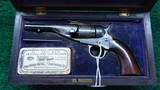 EXTREMELY RARE CASED DELUXE 1862 POCKET NAVY CONVERSION REVOLVER IN CALIBER 38 RF
