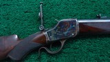WINCHESTER MODEL 1885 DELUXE HI-WALL RIFLE IN SCARCE CALIBER 30 US - 1 of 20