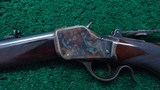 WINCHESTER MODEL 1885 DELUXE HI-WALL RIFLE IN SCARCE CALIBER 30 US - 2 of 20