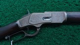 WINCHESTER 1873 FIRST MODEL DELUXE ENGRAVED RIFLE IN CALIBER 44-40