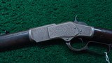 WINCHESTER 1873 FIRST MODEL DELUXE ENGRAVED RIFLE IN CALIBER 44-40 - 2 of 24