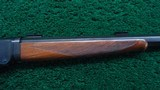 HI-WALL DELUXE STRAIGHT STOCK SCHUETZEN RIFLE WITH A TAKEDOWN FRAME IN CALIBER 22 LONG RIFLE - 5 of 18