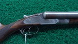 LEFEVER DOUBLE BARREL 12 GAUGE SHOTGUN