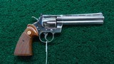 NICKEL FINISH COLT PYTHON 357 REVOLVER - 1 of 15