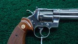 NICKEL FINISH COLT PYTHON 357 REVOLVER - 6 of 15