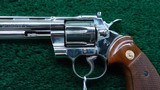 NICKEL FINISH COLT PYTHON 357 REVOLVER - 7 of 15
