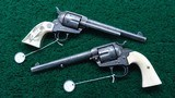 BEAUTIFUL PAIR OF COLT REVOLVER ENGRAVED BY CUNO HELFRICHT