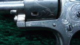 FACTORY ENGRAVED CASED COLT OPEN TOP 22 CALIBER REVOLVER - 11 of 19