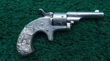 FACTORY ENGRAVED CASED COLT OPEN TOP 22 CALIBER REVOLVER
