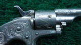 FACTORY ENGRAVED CASED COLT OPEN TOP 22 CALIBER REVOLVER - 6 of 19
