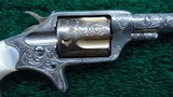 BEAUTIFUL CASED PAIR OF FACTORY ENGRAVED COLT NEW LINE REVOLVERS - 7 of 16