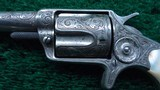 CASED FACTORY ENGRAVED COLT NEW LINE 38 CALIBER RF REVOLVER - 8 of 16