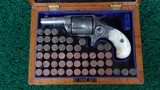 CASED FACTORY ENGRAVED COLT NEW LINE 38 CALIBER RF REVOLVER - 1 of 16