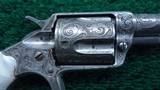 CASED FACTORY ENGRAVED COLT NEW LINE 38 CALIBER RF REVOLVER - 7 of 16
