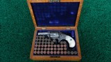 CASED FACTORY ENGRAVED COLT NEW LINE 38 CALIBER RF REVOLVER - 15 of 16