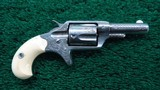 FACTORY ENGRAVED CASED NEW LINE 32 RF REVOLVER