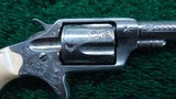 FACTORY ENGRAVED CASED NEW LINE 32 RF REVOLVER - 7 of 13