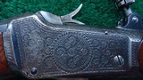 ONE OF A KIND FACTORY ENGRAVED WINCHESTER LO-WALL SCHUETZEN RIFLE - 3 of 25
