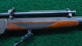 ONE OF A KIND FACTORY ENGRAVED WINCHESTER LO-WALL SCHUETZEN RIFLE - 6 of 25