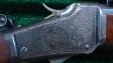 ONE OF A KIND FACTORY ENGRAVED WINCHESTER LO-WALL SCHUETZEN RIFLE - 2 of 25