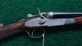 BEAUTIFUL SIDE LOCK DOUBLE BARREL HAMMER SHOTGUN BY ARMI F.LLI POLI