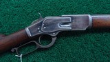 WINCHESTER FIRST MODEL 73 RIFLE WITH SPECIAL ORDER 30 INCH ROUND BARREL - 1 of 20