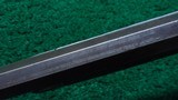 VERY RARE WINCHESTER MODEL 1873 DELUXE RIFLE - 10 of 22