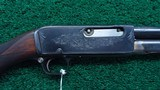 REMINGTON MODEL 14 D PEERLESS GRADE PUMP ACTION RIFLE IN CALIBER 32 REMINGTON