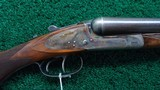 A VERY FINE BELGIUM MADE 12 GAUGE SIDE BY SIDE SHOTGUN BY DUMOULIN BROTHERS