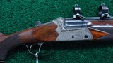 DANGEROUS GAME DOUBLE RIFLE IN CALIBER 458 WIN MAG BY LUDWIG BOROVNIK OF AUSTRIA