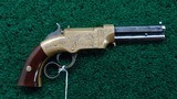 VERY FINE FACTORY ENGRAVED VOLCANIC NO. 1 PISTOL