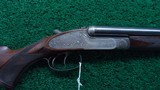 CASED ENGRAVED ALEXANDER HENRY DOUBLE BARREL RIFLE IN 375 NITRO EXPRESS