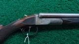 COLT SxS HAMMERLESS 12 GAUGE DOUBLE BARREL SHOTGUN