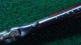 VERY RARE 1873 1ST MODEL RIFLE WITH SPECIAL ORDER 32 INCH BARREL AND FACTORY ENGRAVED - 9 of 25