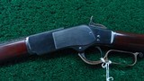 VERY RARE 1873 1ST MODEL RIFLE WITH SPECIAL ORDER 32 INCH BARREL AND FACTORY ENGRAVED - 2 of 25