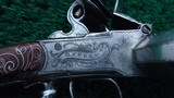 A VERY FINE PAIR OF ENGLISH MADE DUCK-FOOT FLINTLOCK PISTOLS MARKED COLLIS OF OXFORD - 7 of 13