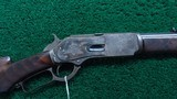 DELUXE FACTORY ENGRAVED 1876 SHORT RIFLE IN 50 EXPRESS