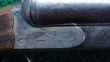 BEAUTIFUL ANTIQUE CHARLES DALY DIAMOND GRADE SxS 12 GAUGE SHOTGUN - 3 of 25