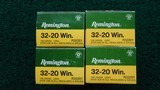 4 BOXES OF REMINGTON 32-20 WINCHESTER AMMO