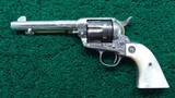 FACTORY ENGRAVED COLT FIRST GENERATION REVOLVER IN CALIBER 45 - 2 of 17