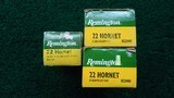 133 ROUNDS OF REMINGTON 22 HORNET SOFT POINT & HOLLOW POINT AMMO