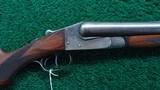 ITHACA LEWIS MODEL 12 GAUGE SxS SHOTGUN - 1 of 20