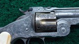 SMITH & WESSON ENGRAVED 3RD MODEL RUSSIAN REVOLVER - 6 of 13