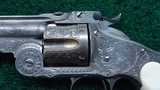SMITH & WESSON ENGRAVED 3RD MODEL RUSSIAN REVOLVER - 7 of 13